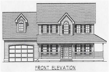 4-Bedroom, 2197 Sq Ft Country House Plan - 162-1055 - Front Exterior