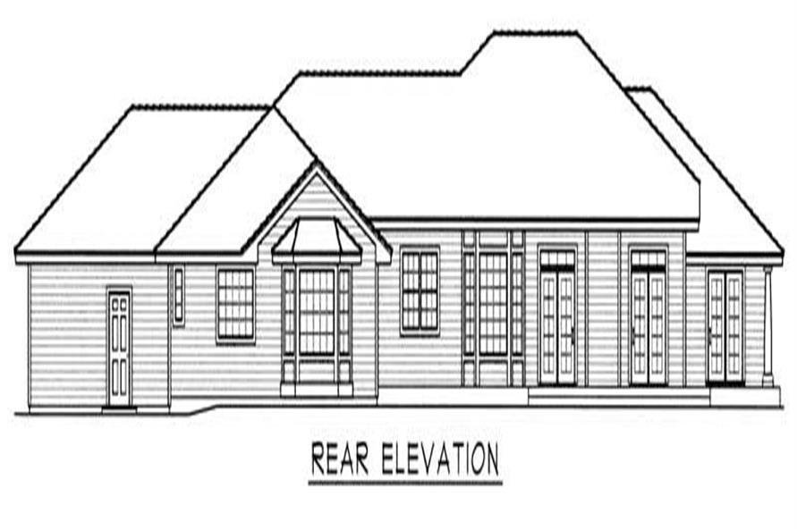 Home Plan Rear Elevation of this 3-Bedroom,3649 Sq Ft Plan -162-1056