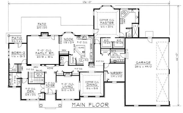 House Plan RDI-3506R1-PB Main Floor Plan