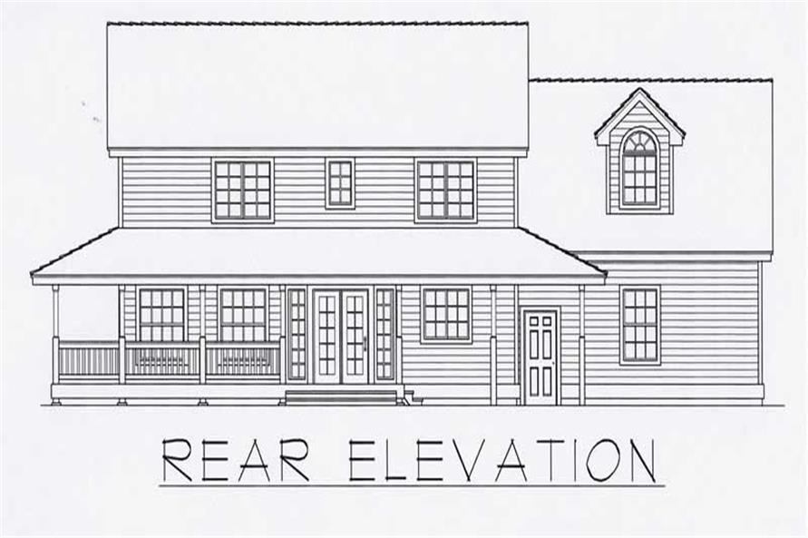 House Plan RDI-2197TS2-B Rear Elevation