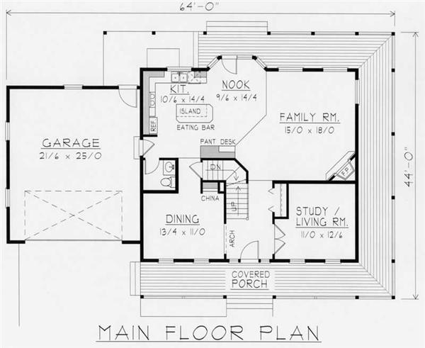 House Plan RDI-2197TS2-B Main Floor Plan