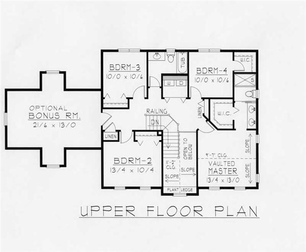 House Plan RDI-2197TS2-B Second Floor Plan