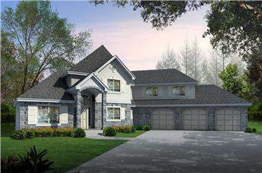 2-Bedroom, 2823 Sq Ft Contemporary House Plan - 162-1058 - Front Exterior