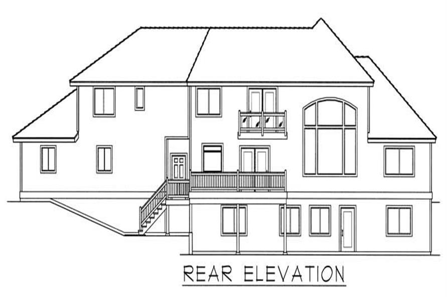 House Plan RDI-2823TS1-DB Rear Elevation