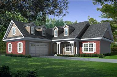 3-Bedroom, 2166 Sq Ft Country House Plan - 162-1059 - Front Exterior