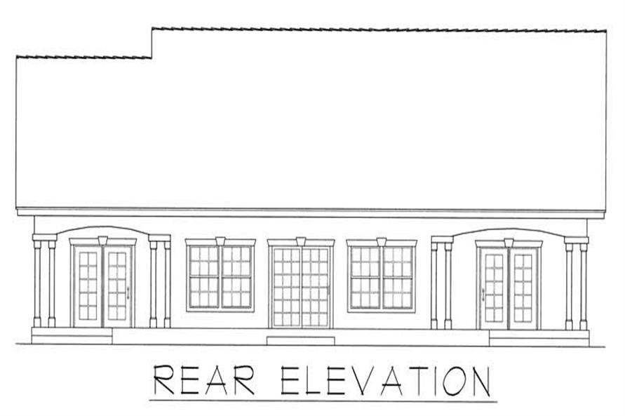 House Plan RDI-2166R1-B Rear Elevation