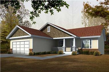 5-Bedroom, 2763 Sq Ft Bungalow House Plan - 162-1061 - Front Exterior