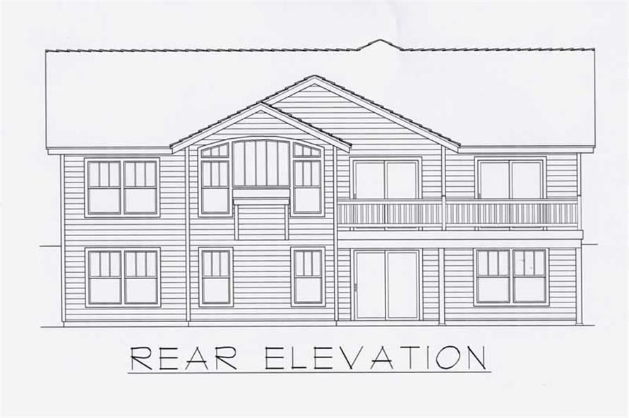 House Plan RDI-1634R1-DB Rear Elevation