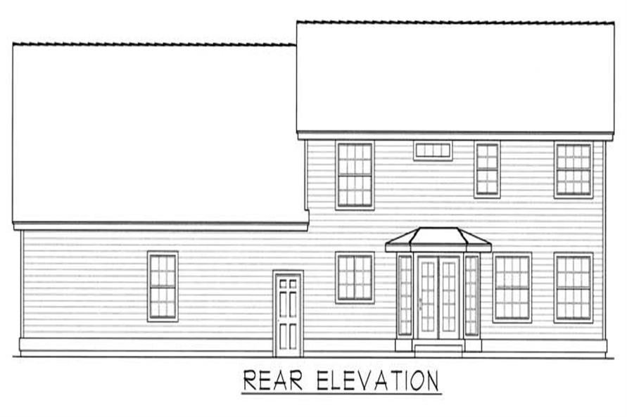House Plan RDI-2221TS1-B Rear Elevation