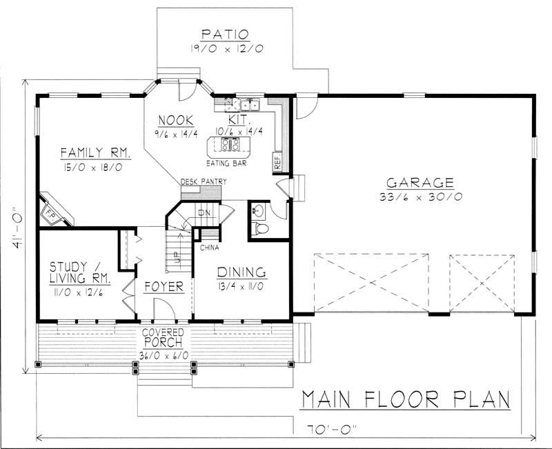 Country house plan 3 bedrms 2 5 baths 2849 sq ft for 162 plan