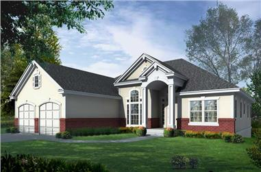 4-Bedroom, 3538 Sq Ft Contemporary Home Plan - 162-1063 - Main Exterior