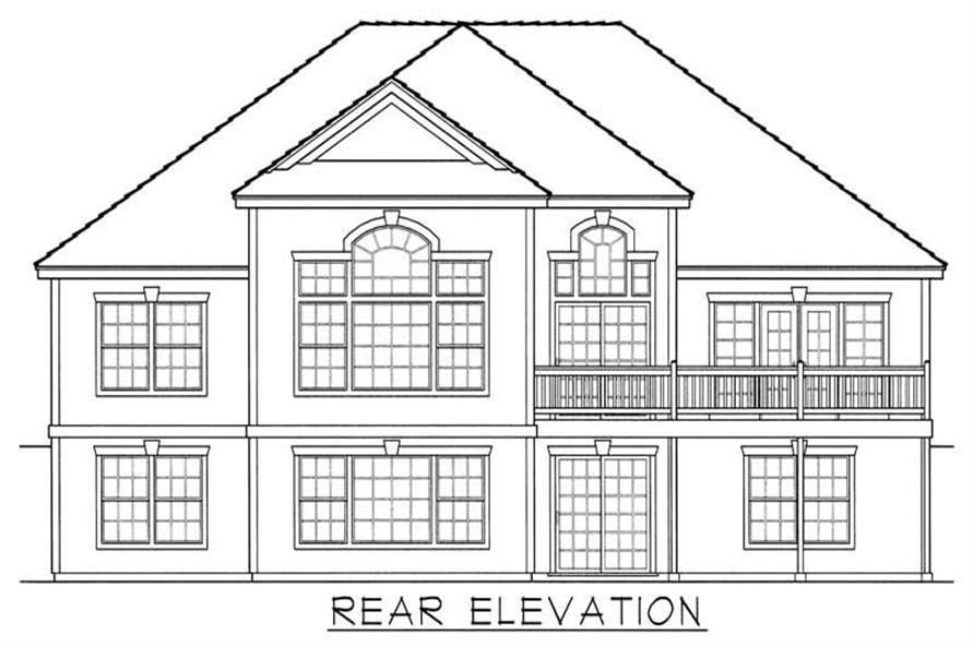 House Plan RDI-2141R1-DB Rear Elevation