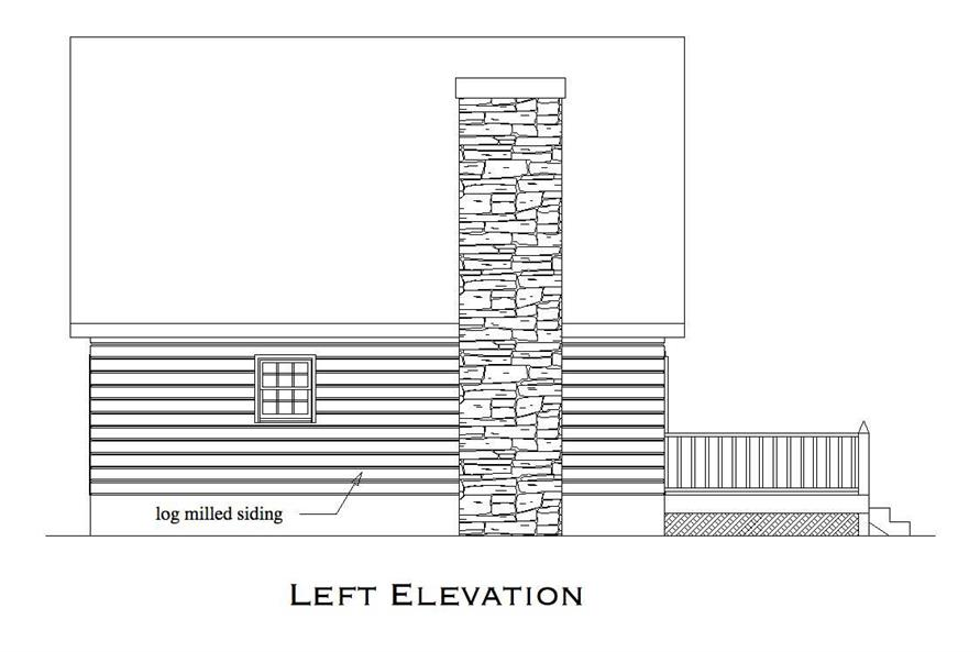 Home Plan Left Elevation of this 2-Bedroom,1053 Sq Ft Plan -163-1000