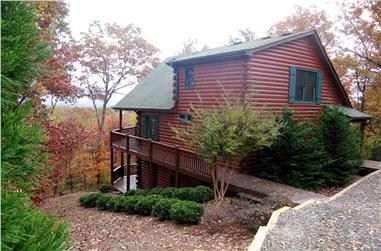 This is a color photo for these Log Cabin Home Plans.