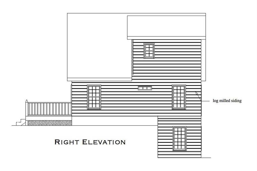 Home Plan Right Elevation of this 2-Bedroom,1053 Sq Ft Plan -163-1000