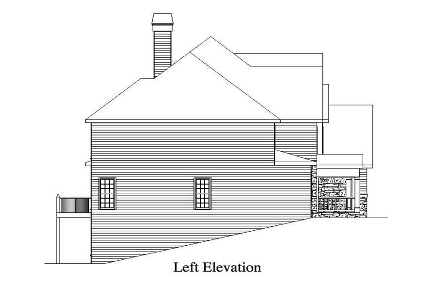 Home Plan Left Elevation of this 4-Bedroom,2757 Sq Ft Plan -163-1001