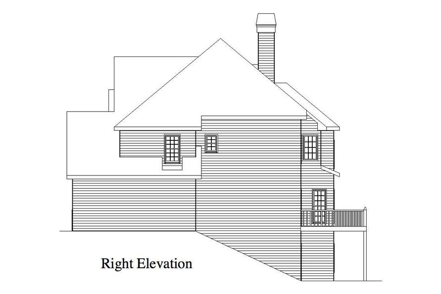 Home Plan Right Elevation of this 4-Bedroom,2757 Sq Ft Plan -163-1001