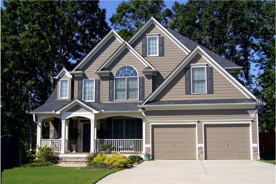 Front Door of this 4-Bedroom,2757 Sq Ft Plan -2757
