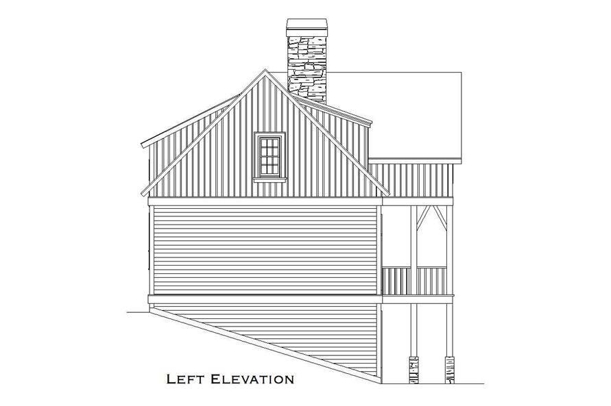 Home Plan Left Elevation