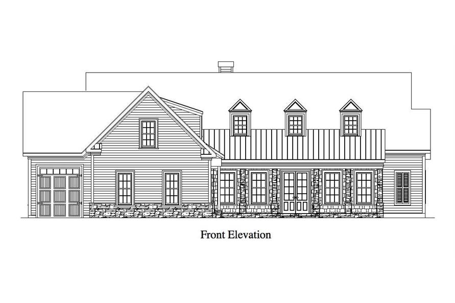 Home Plan Front Elevation of this 4-Bedroom,4718 Sq Ft Plan -163-1006