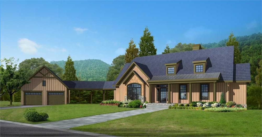 163-1007 house plan front elevation