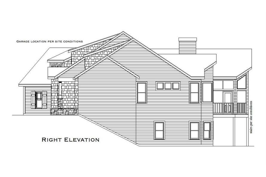 Home Plan Right Elevation of this 3-Bedroom,4045 Sq Ft Plan -163-1008