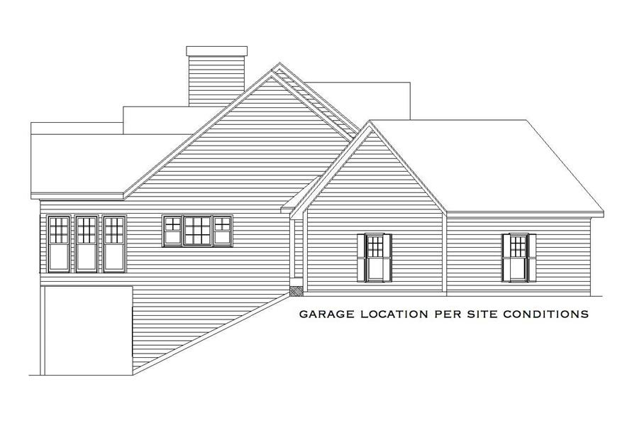 Home Plan Left Elevation of this 4-Bedroom,2860 Sq Ft Plan -163-1009