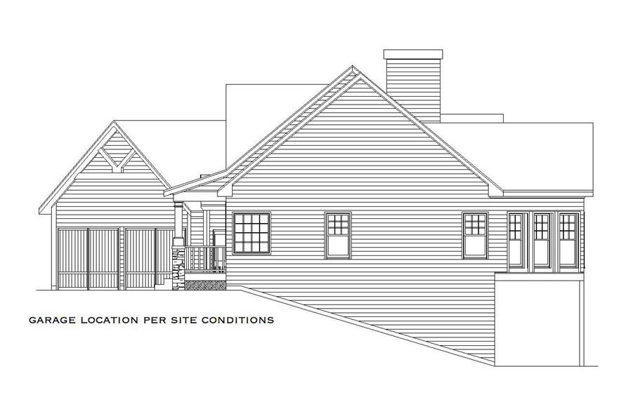 Home Plan Right Elevation of this 4-Bedroom,2860 Sq Ft Plan -163-1009