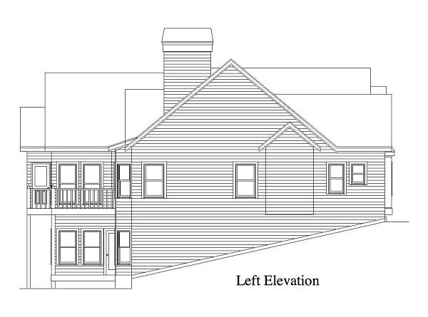 163-1011: Home Plan Left Elevation