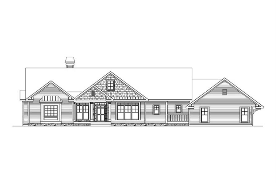 Home Plan Front Elevation of this 4-Bedroom,2880 Sq Ft Plan -163-1011