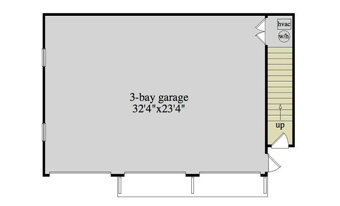 ... Floor Plan First Story Of Garage W/Apartments Plan #163 1012