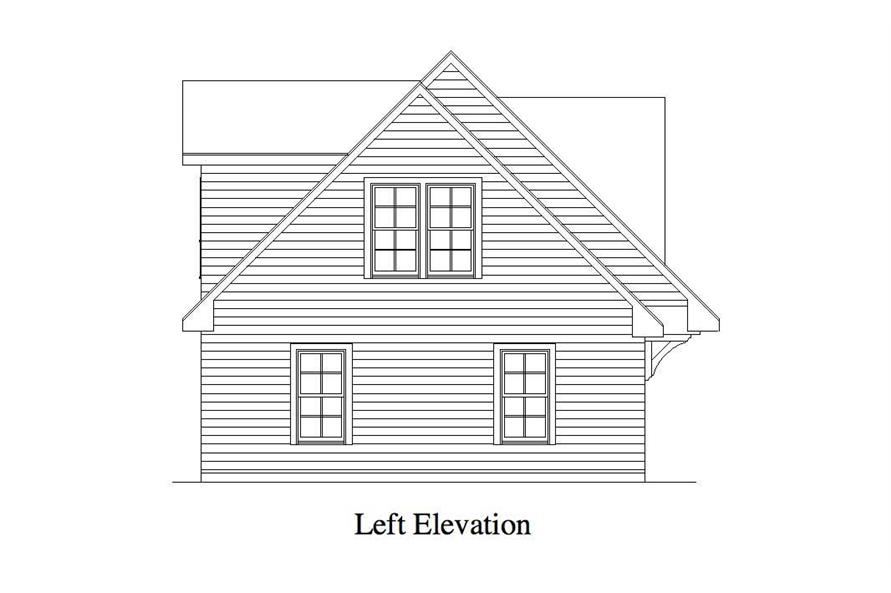 Home Plan Left Elevation of this 1-Bedroom,679 Sq Ft Plan -163-1012