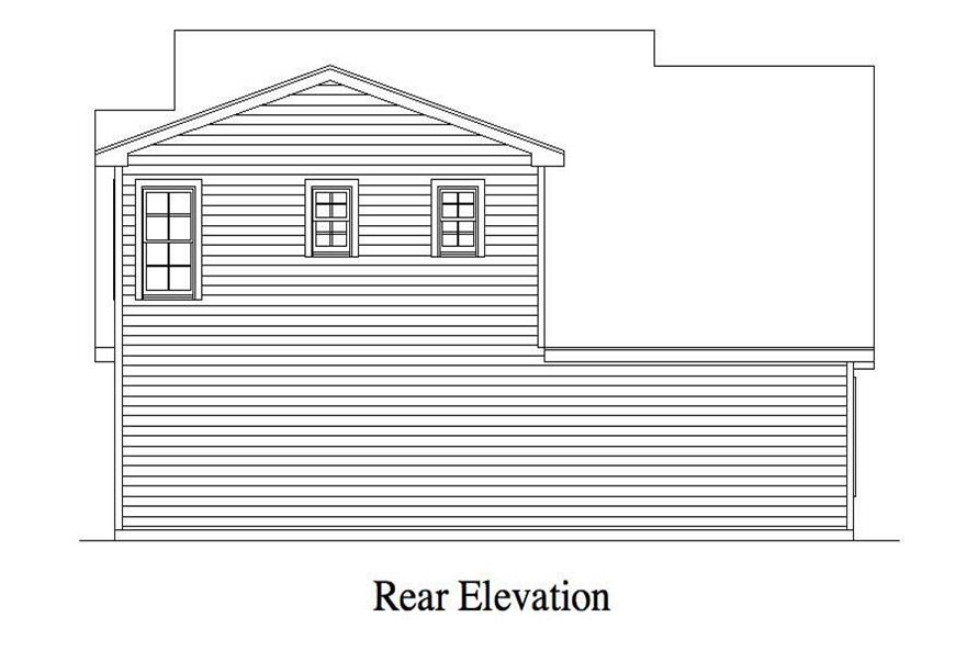 Home Plan Rear Elevation of this 1-Bedroom,679 Sq Ft Plan -163-1012