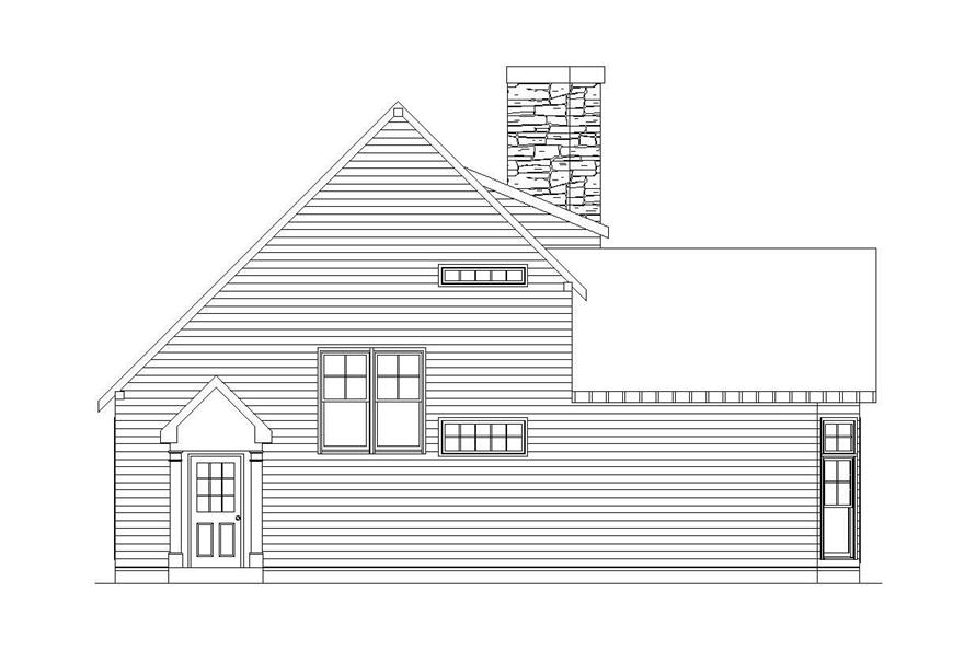 Home Plan Left Elevation of this 2-Bedroom,3000 Sq Ft Plan -163-1013