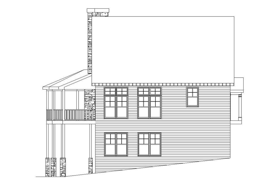 Home Plan Rear Elevation of this 2-Bedroom,3000 Sq Ft Plan -163-1013
