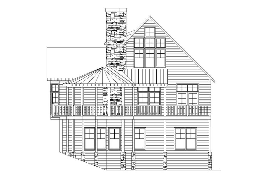 Home Plan Right Elevation of this 2-Bedroom,3000 Sq Ft Plan -163-1013