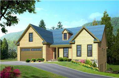 3-Bedroom, 3544 Sq Ft Country House Plan - 163-1014 - Front Exterior