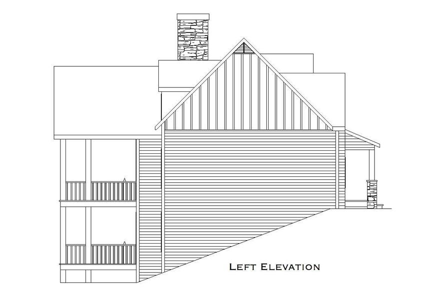 Home Plan Left Elevation of this 3-Bedroom,2079 Sq Ft Plan -163-1015