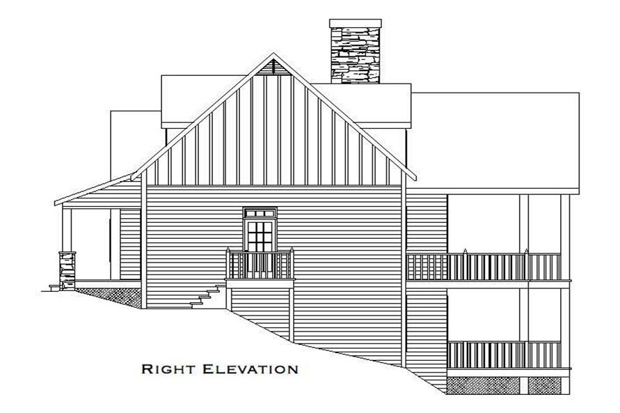 Home Plan Right Elevation of this 3-Bedroom,2079 Sq Ft Plan -163-1015