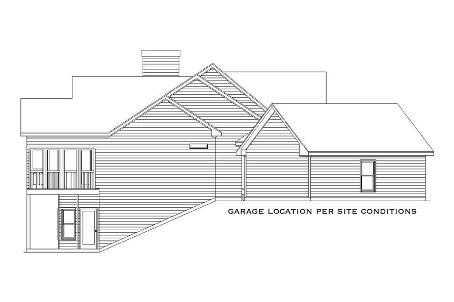 Home Plan Left Elevation of this 4-Bedroom,2909 Sq Ft Plan -163-1016