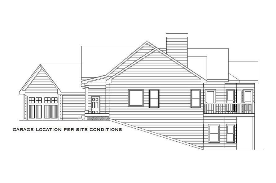 Home Plan Right Elevation of this 4-Bedroom,2909 Sq Ft Plan -163-1016