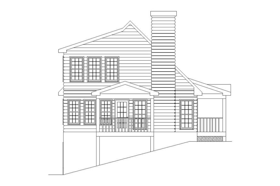 Home Plan Left Elevation of this 2-Bedroom,1314 Sq Ft Plan -163-1017