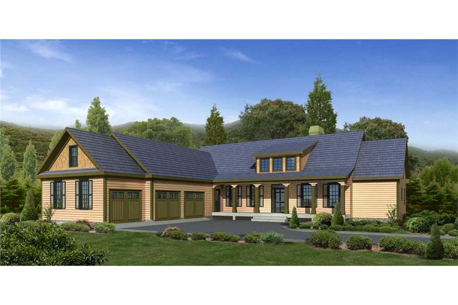 Home Plan Rendering of this 3-Bedroom,3851 Sq Ft Plan -163-1019