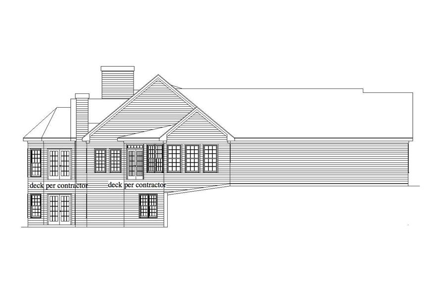Home Plan Left Elevation of this 3-Bedroom,3851 Sq Ft Plan -163-1019