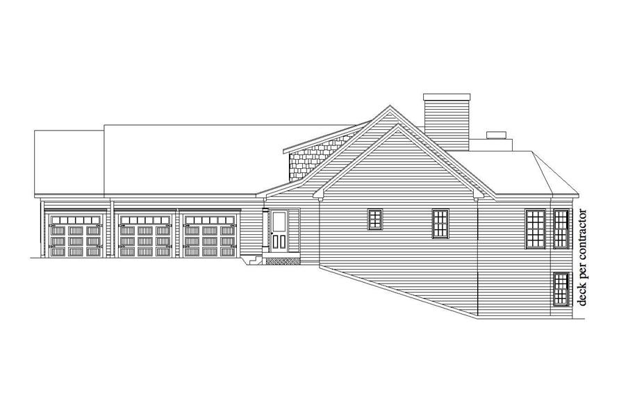 Home Plan Right Elevation of this 3-Bedroom,3851 Sq Ft Plan -163-1019