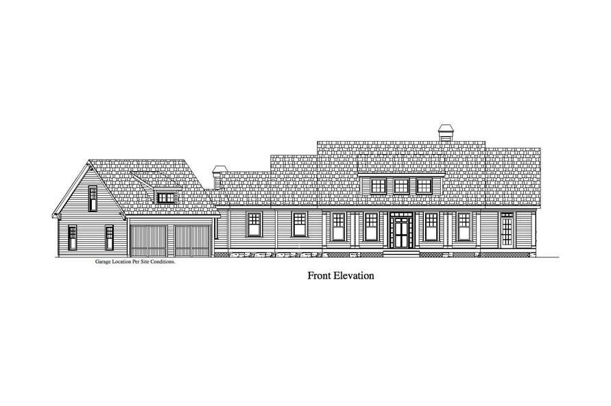 Home Plan Front Elevation of this 4-Bedroom,3886 Sq Ft Plan -163-1020