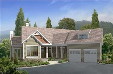 4-Bedroom, 3212 Sq Ft Country House Plan - 163-1022 - Front Exterior