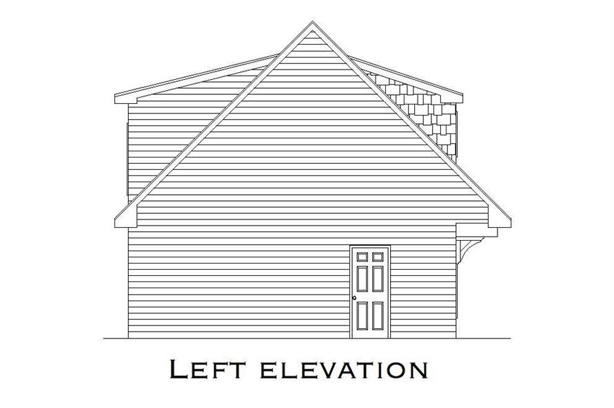 Home Plan Left Elevation of this 1-Bedroom,699 Sq Ft Plan -163-1023