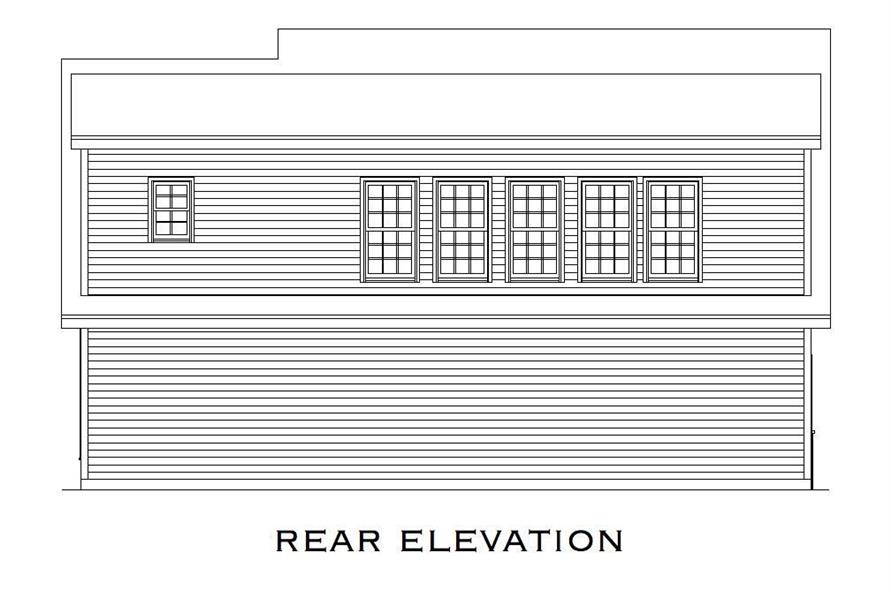 Home Plan Rear Elevation of this 1-Bedroom,699 Sq Ft Plan -163-1023