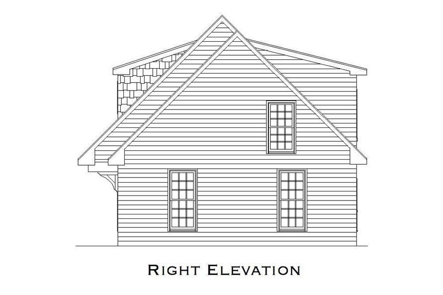 Home Plan Right Elevation of this 1-Bedroom,699 Sq Ft Plan -163-1023